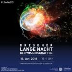Werbeplakat zur Dresdner langen Nacht der Wissenschaften 2018
