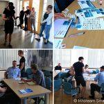 Kollage von 4 Bildern vom 6. Diskussionsforum des Innoteams